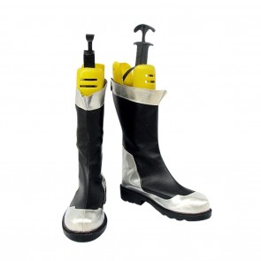 Mobile Suit Gundam 00 Cosplay Shoes Black & Silver Boots