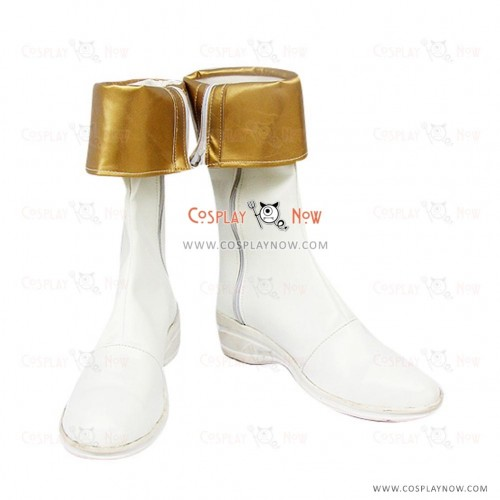 Phantasia Cosplay鞋子薄荷Adenade白色和金色靴子的故事