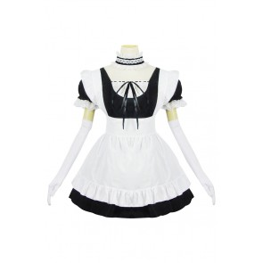 Sexy Black White Maid Lolita Dress Cosplay Costume