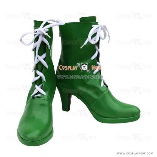Sailor Moon Cosplay Shoes Kino Makoto Sailor Jupiter Green Boots