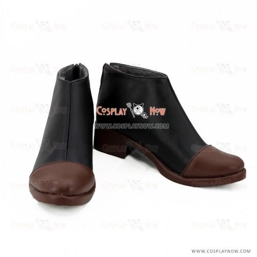 Touken Ranbu Online Cosplay Fudou Yukimitsu Black Brown Shoes Boots