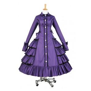 Lolita Dress Victorian Lolita Reenactment Stage Steampunk Coat Cosplay Costume