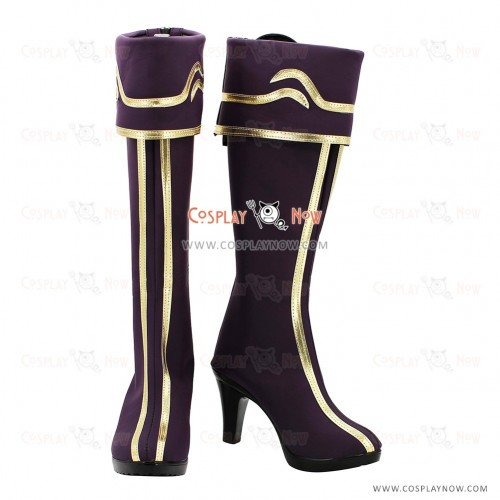 League of Legends The Goddess of War Cosplay Shoes Shivell Purple Boots
