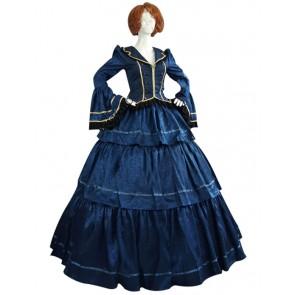 Victorian Lolita Civil War Evening Gothic Lolita Dress Royal Blue
