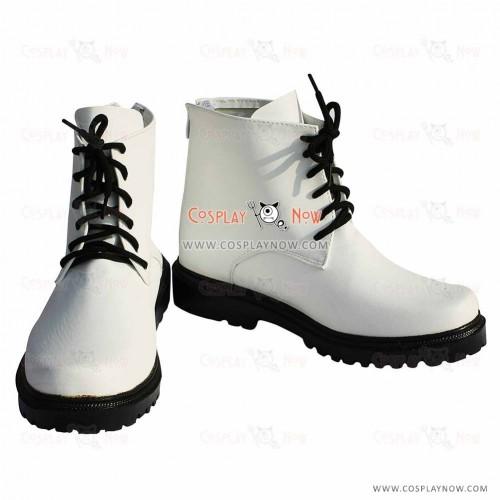 K Project Cosplay Kuroh Yatogami White Shoes