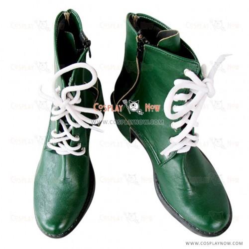 Shiny Green Sailor Moon Cosplay Shoes Kino Makoto Boots