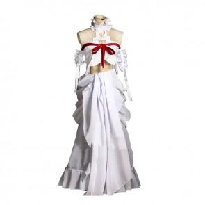 Sword Art Online Cosplay Asuna Yuuki White Uniform Dress Costume