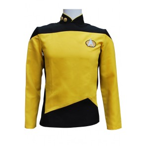 Star Trek TNG The Next Generation Gold Yellow Shirt