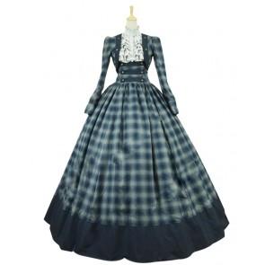 Victorian Civil War Formal Period Ball Gown Reenactment Stage Lolita Dress Costume