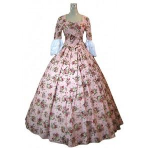 Victorian Lolita Renaissance Multicolor Floral Gothic Lolita Dress
