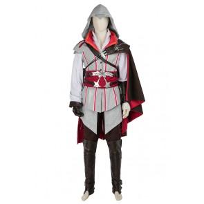 Ezio Auditore da Firenze Costume For Assassin's Creed II Cosplay Uniform White