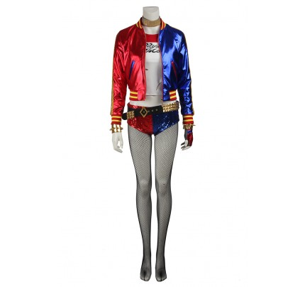 Harley Quinn For Suicide Squad Cosplay Uniform New