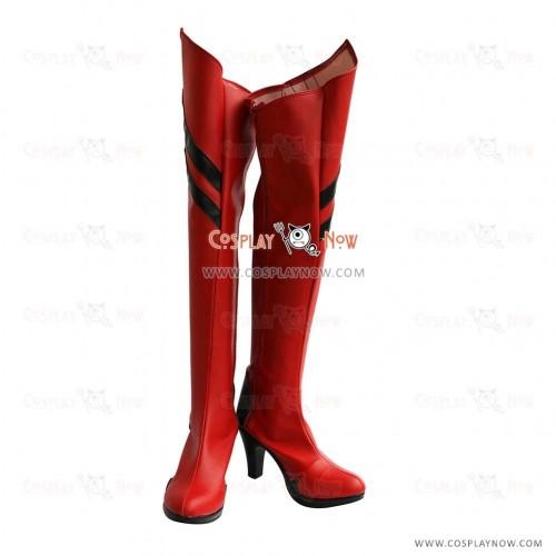 Neon Genesis Evangelion Cosplay Shoes Asuka Boots