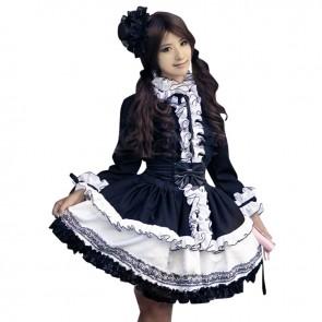 Gothic Punk Black White Lolita Dress Halloween