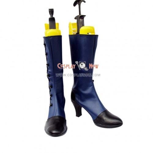 Black Butler Cosplay Shoes Ciel Blue Boots