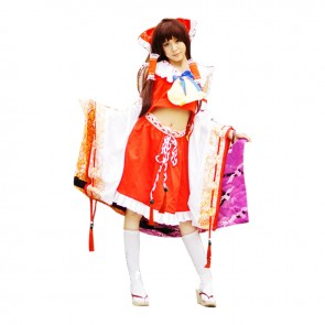 Touhou Project Cosplay Reimu Hakurei Costume Kimono
