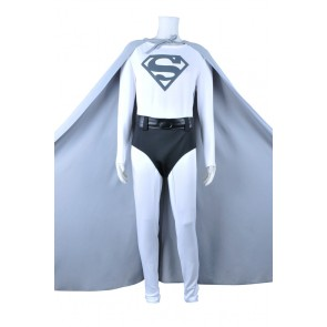 Superman Cosplay Cark Kent Gray Cape Costume