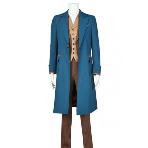 Fantastic Beasts and Where to Find Them Newt Scamander Cosplay Costume Cotton Ver