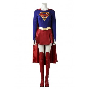 Superman Cosplay Supergirl Kara Zor-El Costume