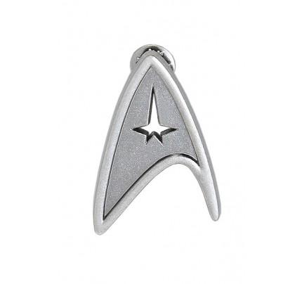 Star Trek Cosplay Silver Voyager Command Brooch Badge