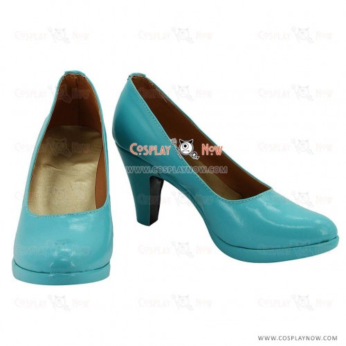 Vocaloid  Love Philosophia Hatsune Miku Blue Hight Heel Cosplay Boots