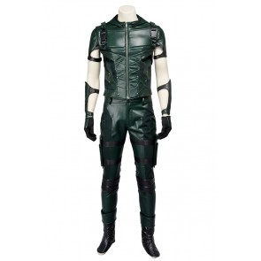 Oliver Queen Green Arrow Costume For Green Arrow Season 3 Cosplay