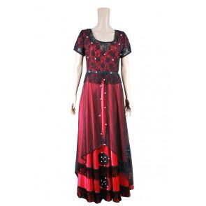 Titanic Cosplay Rose Costume Red Dress