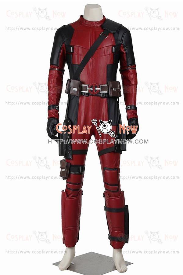 Wade Wilson Costume For Deadpool Cosplay Jumpsuit Deluxe Suit