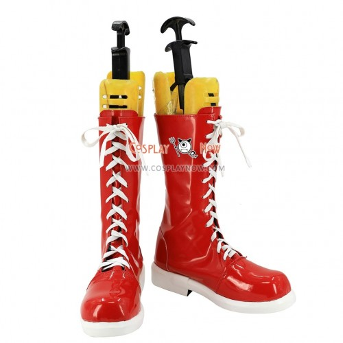 Persona 5:Dancing Star Night Cosplay Shoes Goro Akechi Dancing All Night DLC Red Boots