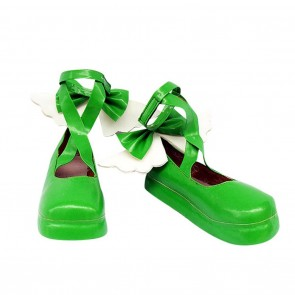 Shugo Chara Hinamori Amu Green Cute Cosplay Shoes