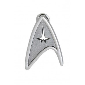 Star Trek Cosplay Silver Voyager Command Brooch Badge