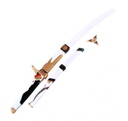 OW Genji Nihon Skin Sword Dagger and Spear Cosplay Props