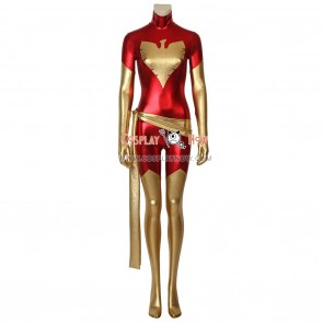 X-Men Cosplay Costume Dark Phoenix Costume Slim fit Gold and Red Jumpsuit