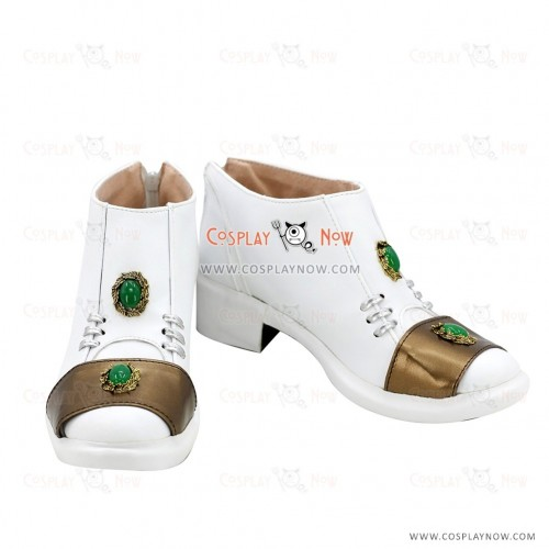 JoJo's Bizarre Adventure Rohan Kishibe White Golden Cosplay Shoes