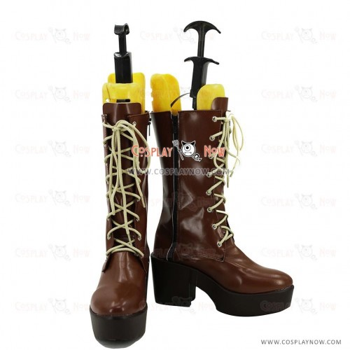 Persona 5 Cosplay Shoes Ann Takamaki Brown Boots