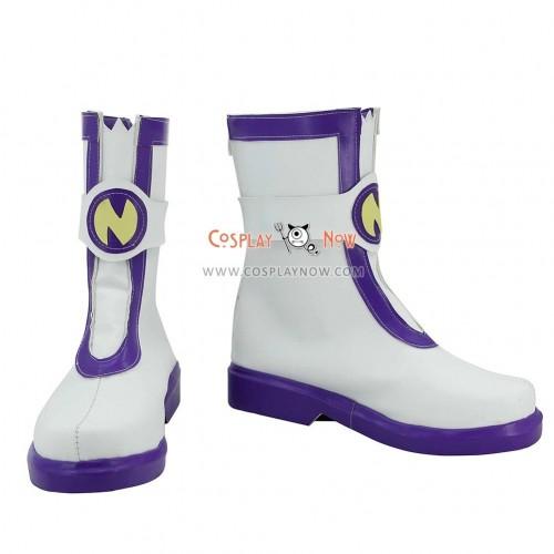 Hyperdimension Neptunia Cosplay Shoes Nepgear Purple & White Boots