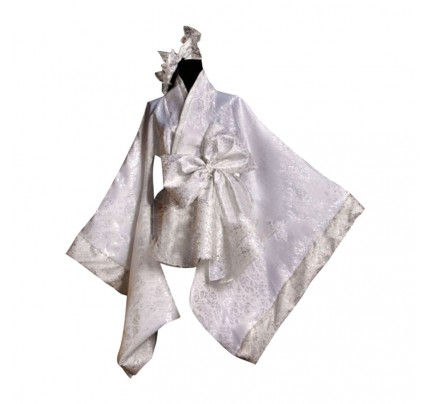 Lolita Cosplay White Universal Japan Kimono Dress Costume