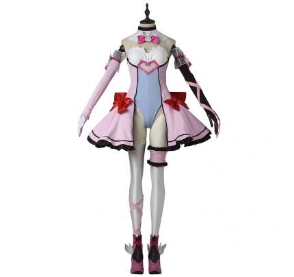 Overwatch OW Cosplay D.Va Costume Pink Dress