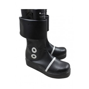 One Piece Cosplay Shoes Portgas D. Ace Boots Black