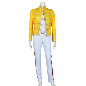 Queen Band Lead Vocals Freddie Mercury Cosplay Costume