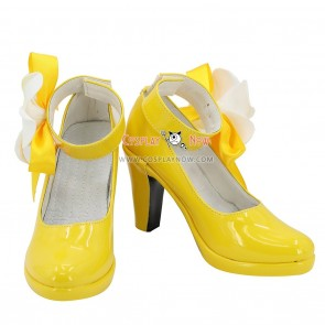 Date A Live Miku Izayoi Yellow Cosplay Shoes