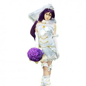 Love Live LoveLive Cosplay Nozomi Tojo Costume Wedding Dress