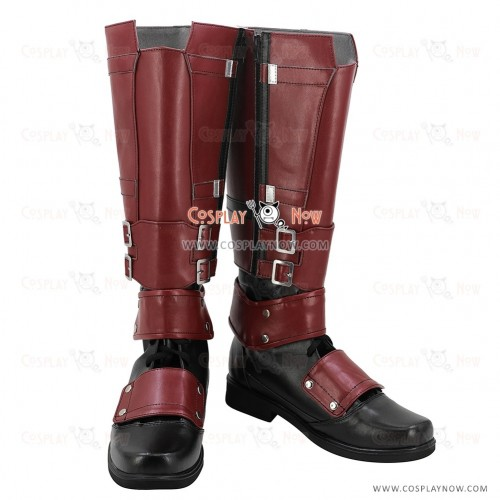 Marvel Deadpool Wade Wilson Red Shoes Cosplay Boots