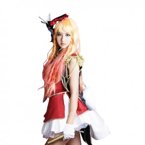 Macross Frontier Cosplay Sheryl Nome Costume Red Dress
