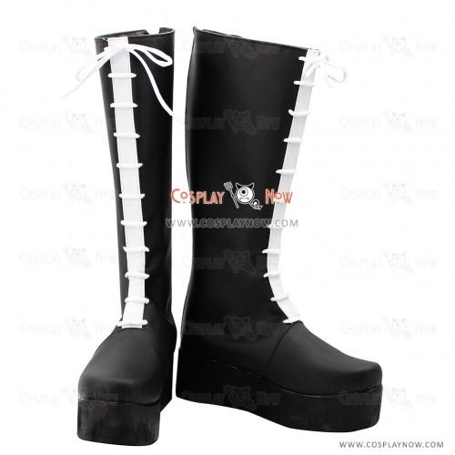 Hitman Reborn Cosplay Shoes Colonnello Black Boots