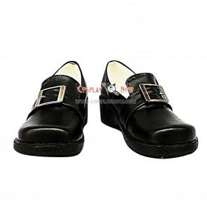 Black Butler Ciel Black Cosplay Flat Leather Shoes