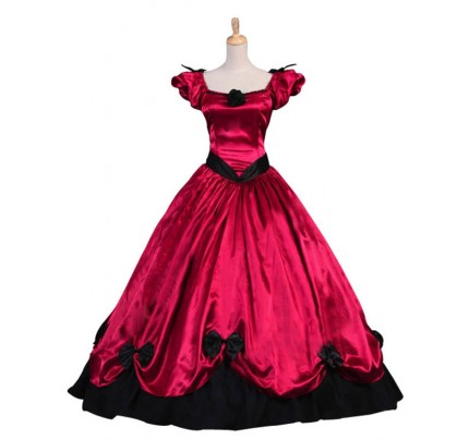 Victorian Southern Belle Princess Ball Gown Period Formal Reenactor Lolita Dress Costume