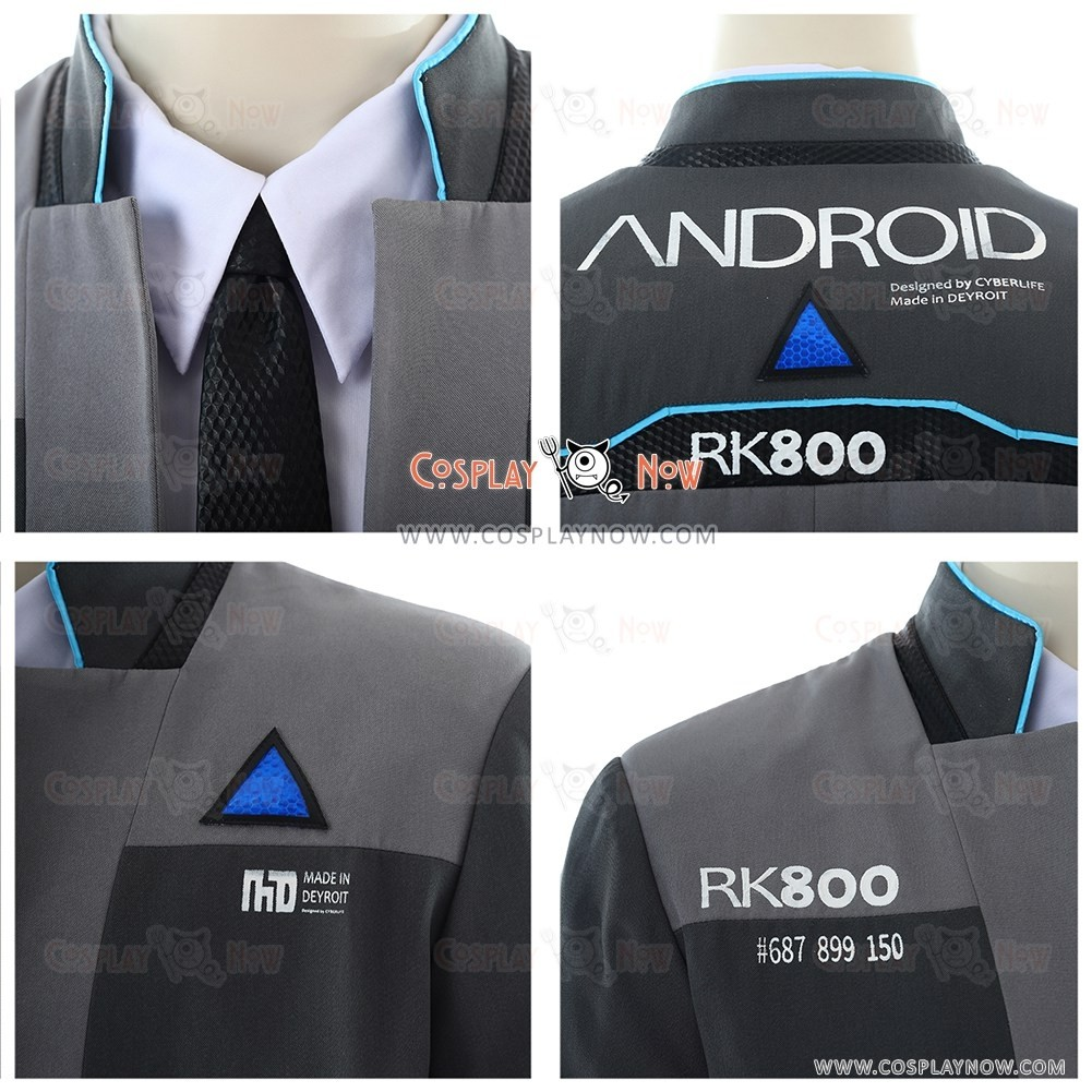 Connor Costumes For Detroit Become Human Cosplay