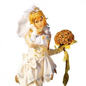 Love Live loveLive Rin Hoshizora Costume School Wedding Dress