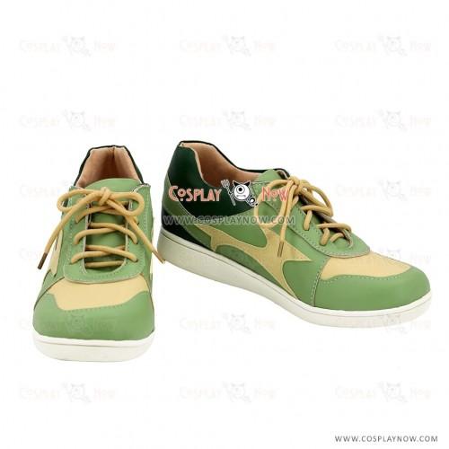 Danganronpa Aoi Asahina Green Cosplay Shoes